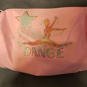Girls Pink Dance Duffle Crossbody Bag